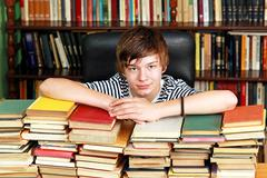 Teenager with books Stock Photos
