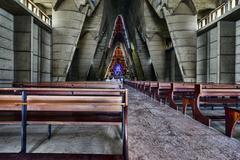 Interior basilica of nuestra senora de la altagracia at republica dominicana Stock Photos