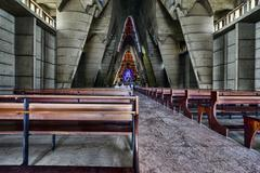 interior basilica of nuestra senora de la altagracia at republica dominicana - stock photo