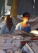 Street bazaar alanya turkey Stock Photos