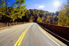 road through appalachians - stock photo