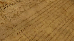 The Bill of Rights - motion background Stock Footage