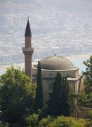 mosque in ehmediye village on kale mountain alanya turkey - stock photo