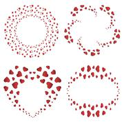Stock Illustration of Heart frames