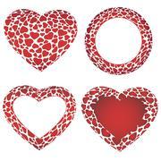 Stock Illustration of Heart frames set