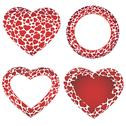 Stock Illustration of Heart frames set