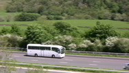 Stock Video Footage of White coach on the motorway