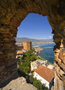 Alanya from castle turkey Stock Photos