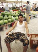 street bazaar alanya turkey - stock photo