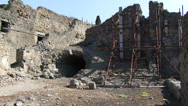 Stock Video Footage of Reconstruction and preservation in Pompeii
