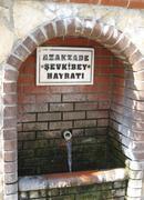 drinking water fountain alanya turkey - stock photo