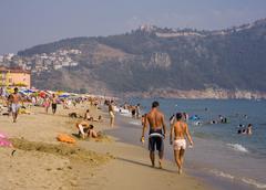 turkish riviera cleopatra beach alanya - stock photo
