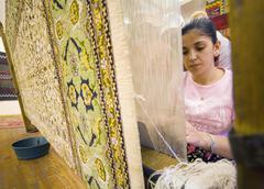 Turkey carpet factory Stock Photos