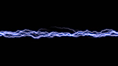 Arcing Electricity Band 2 alpha Stock Footage