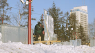 Stock Video Footage of Krasnoyarsk Snow Festival 02