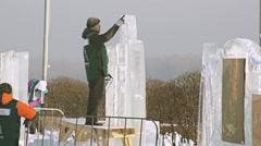 Krasnoyarsk Snow Festival 03 Stock Footage