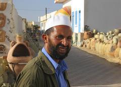 Tunisia djerba island man portrait Stock Photos