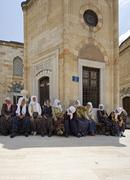 Turkish women spends time together mevlana museum konya turkey Stock Photos