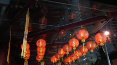 Ultra HD video of traditional lanterns at Chinatown Stock Footage