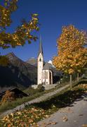 heiligenblut resort in high alps austria - stock photo