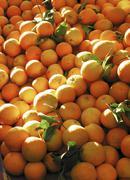 Oranges at street bazaar alanya turkey Stock Photos