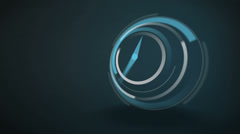 Blue clock ticking at speed Stock Footage
