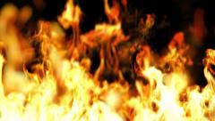 Beautiful Fire in Looped Animation. HD 1080. Stock Footage