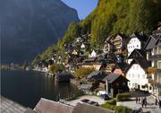 Stock Photo of town of hallstatt lower austria