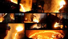 Working in a foundry, steel mill - stock footage