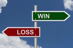 Win versus lose Stock Illustration