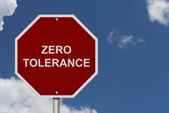 zero tolerance sign - stock illustration
