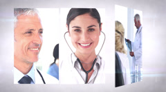 Medical team montage Stock Footage