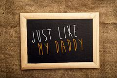 just like my daddy - stock illustration