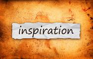Stock Illustration of inspiration title on piece of paper