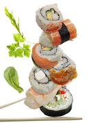 Stock Illustration of sushi assortment