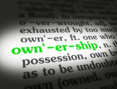 Dictionary ownership - stock illustration