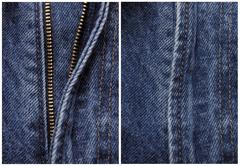 Before and after, zipper Stock Photos