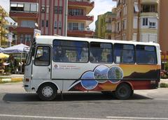 Bus dolmus main mode of public transport in turkey Stock Photos