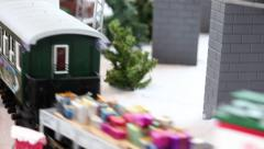 Model Train Sequence #3 Stock Footage