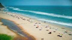 Timelapse beach on the indian ocean. india (tilt shift lens). Stock Footage