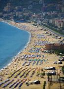 Turkish riviera cleopatra beach alanya Stock Photos