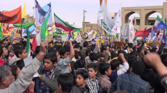 Iran, high school students chant 'death to America' during protest Stock Footage