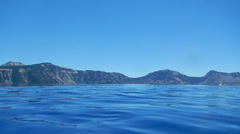 Swimming in Crater Lake Stock Footage