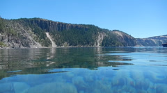 Swimming In Crater Lake 2 Stock Footage