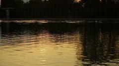 Lake sunset Rowing 2 Stock Footage