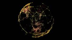 Plexus Planet 2 + Alpha Channel - stock footage