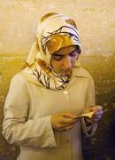Believer praying in mevlana konya turkey Stock Photos