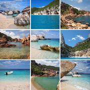 Sardinia collage Stock Illustration
