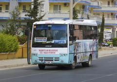 Bus dolmus main mode of public transport in turkey Stock Photos