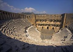Roman amphitheatre of aspendos anatalya turkey Stock Photos